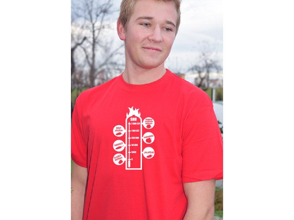 Pánské tričko - SHU stupnice CHILLI - červené