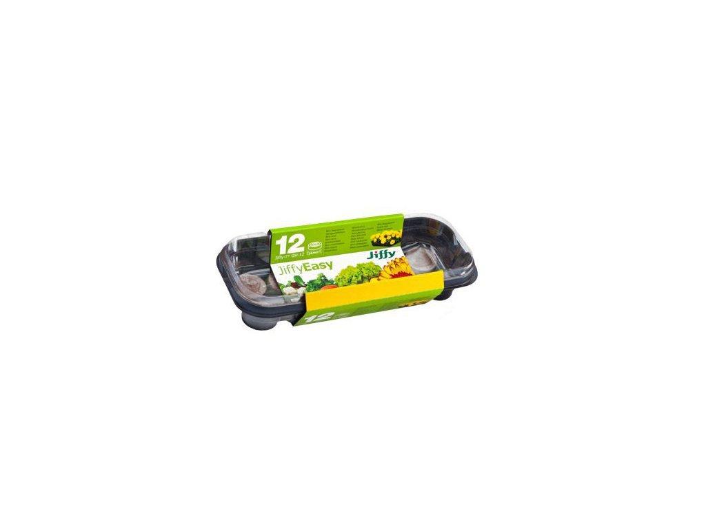Mini plastový skleníček na klíčení vč jiffy 12 ks