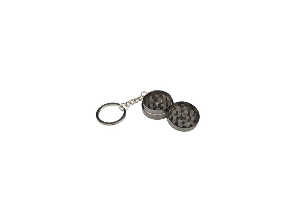 Kovový drtič tabáku na klíčence