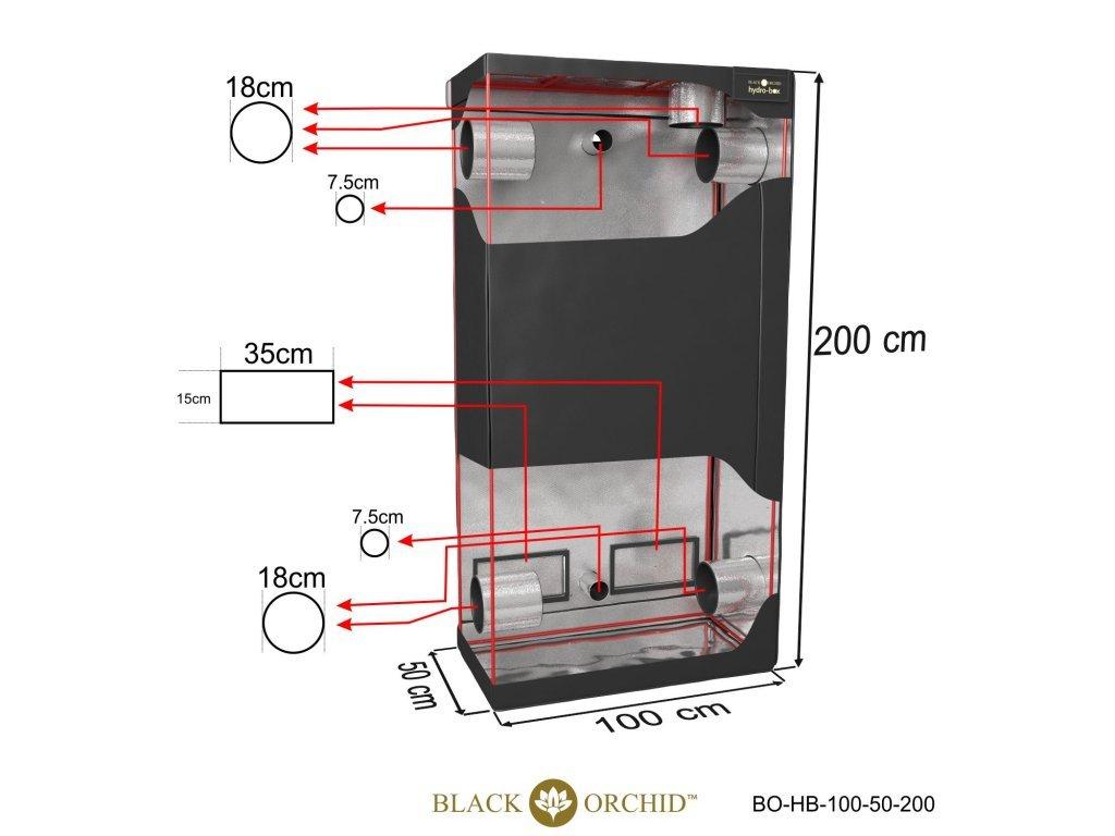 BLACK ORCHID HYDRO BOX 100X50X200CM TENT 2