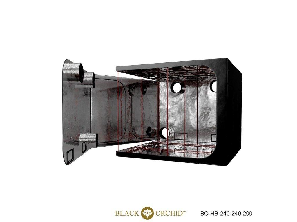 BLACK ORCHID HYDRO BOX 240X240X200CM TENT