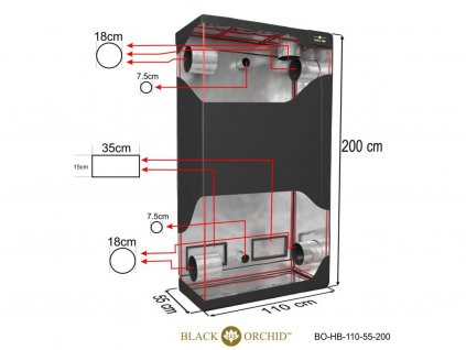 BLACK ORCHID HYDRO BOX 110X55X200CM TENT 2