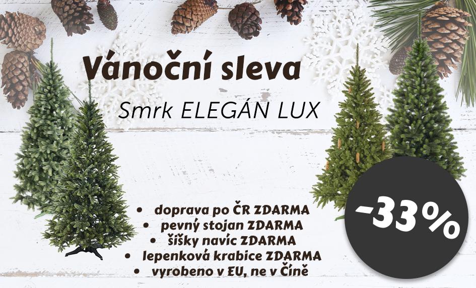 Smrky ELEGÁN LUX - Vánoční sleva 33%