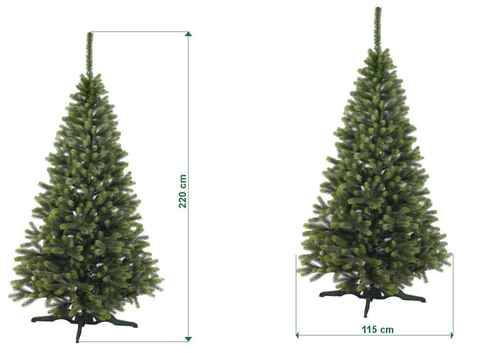 umely-vanocni-stromecek-smrk-ELEGAN-LUX-stinovany-rozmery-220cm-130cm-stromeckov
