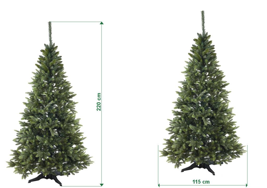 umely-vanocni-stromecek-smrk-ELEGAN-LUX-stinovany-trojvetvy-rozmery-220cm-130cm-stromeckov