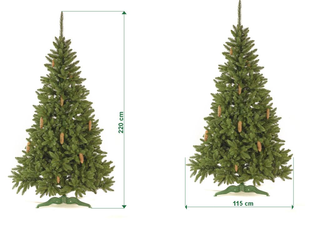 umely-vanocni-stromecek-smrk-ELEGAN-LUX-trojvetvy-rozmery-220cm-130cm-stromeckov
