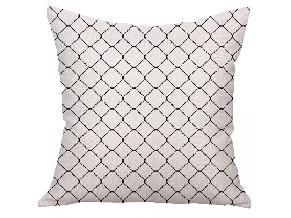 3 Decorative Pillows Geometric Printed Square Pillow Cover Cushion Case Toss Pillowcase Hidden Zipper Closure 45x45cm kussensloop