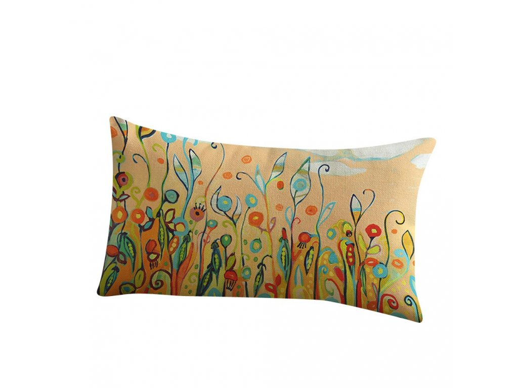 3 30x50 cm Country Style Flower Bird Pattern Waist Pillowcase Printing Bed Home Festival Pillow Cover 45