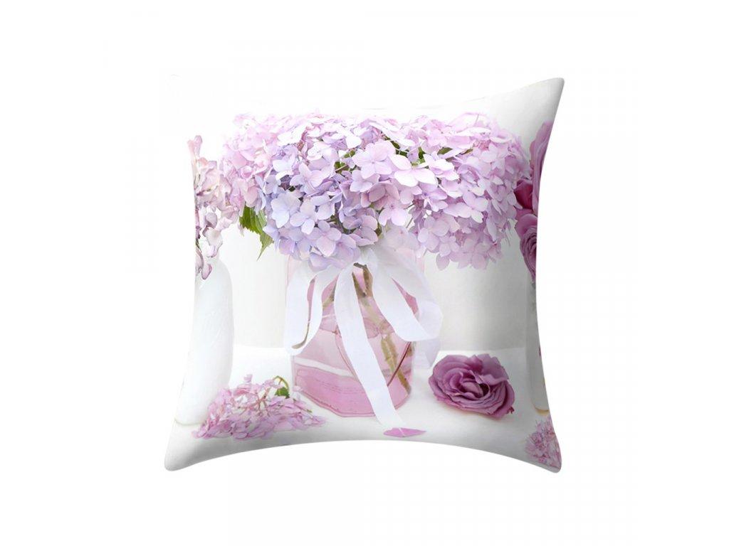 4 Plant Printed Polyester Pillow Case Cover Sofa Cushion Cover 45 45CM Home Decor Throw Pillow Super