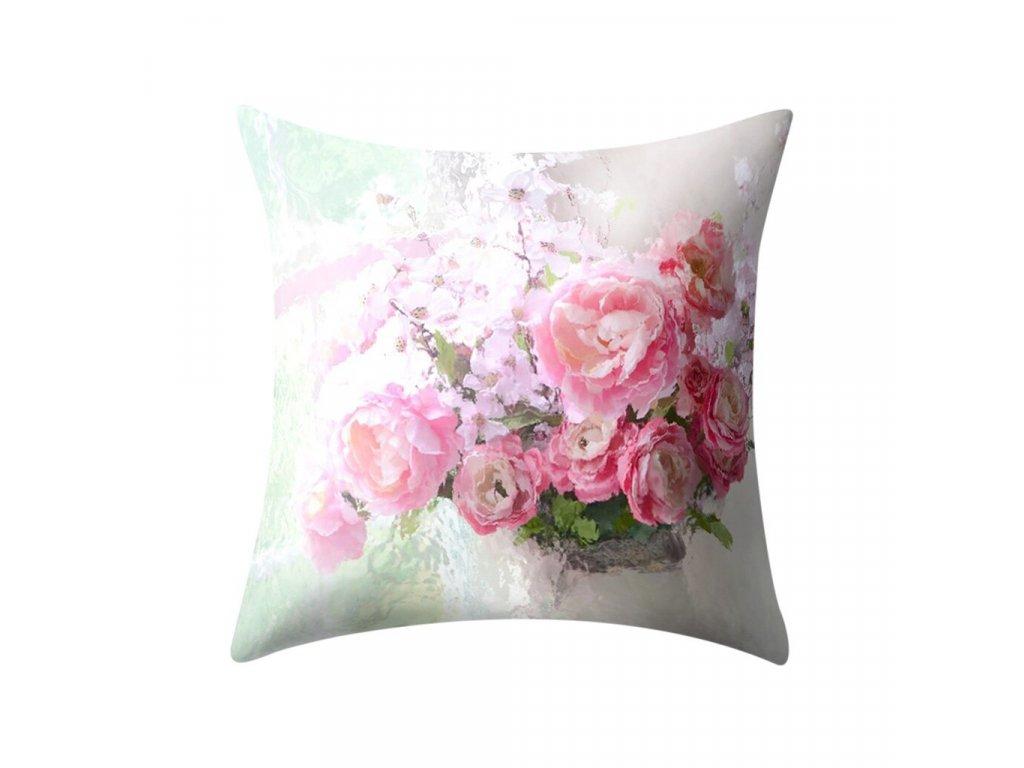 10 Plant Printed Polyester Pillow Case Cover Sofa Cushion Cover 45 45CM Home Decor Throw Pillow Super