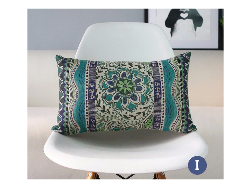 8 RECOLOUR fashion ethnic geometric throw pillow case modern style home decorative cotton linen cushion cover 45