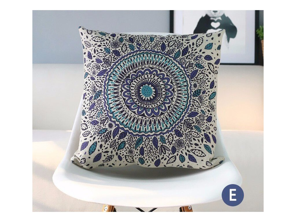 4 RECOLOUR fashion ethnic geometric throw pillow case modern style home decorative cotton linen cushion cover 45