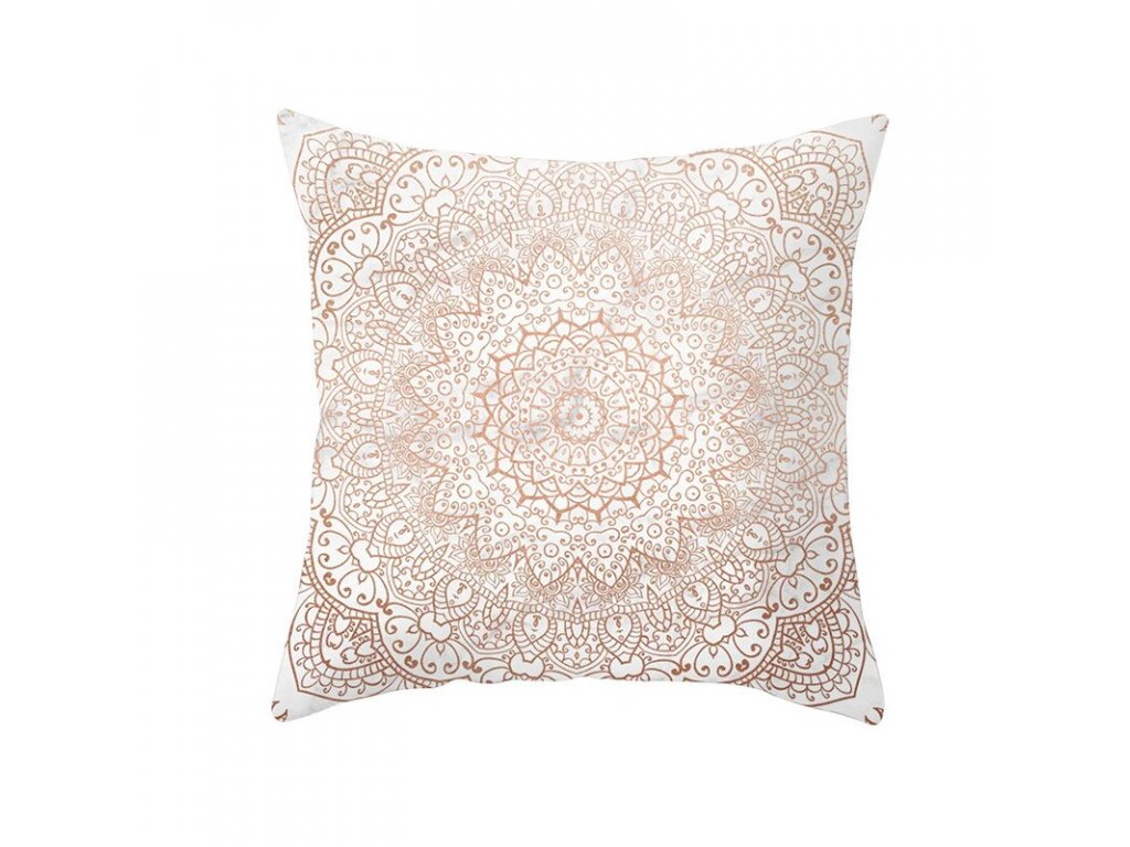 16 Fuwatacchi Rose Gold Geometric Cushion Cover Flower Decorative Pillows Cover for Home Sofa Bed Polyester Throw