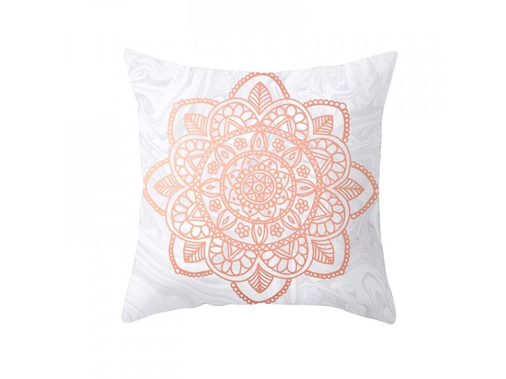 14 Fuwatacchi Rose Gold Geometric Cushion Cover Flower Decorative Pillows Cover for Home Sofa Bed Polyester Throw