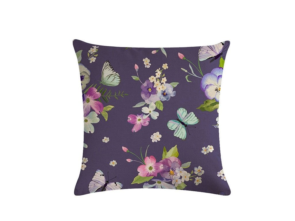 3 Retro Style Print Pillow Ddustproof Cover Home Textiles Single sided Color Printed Flower Series Linen Cushion