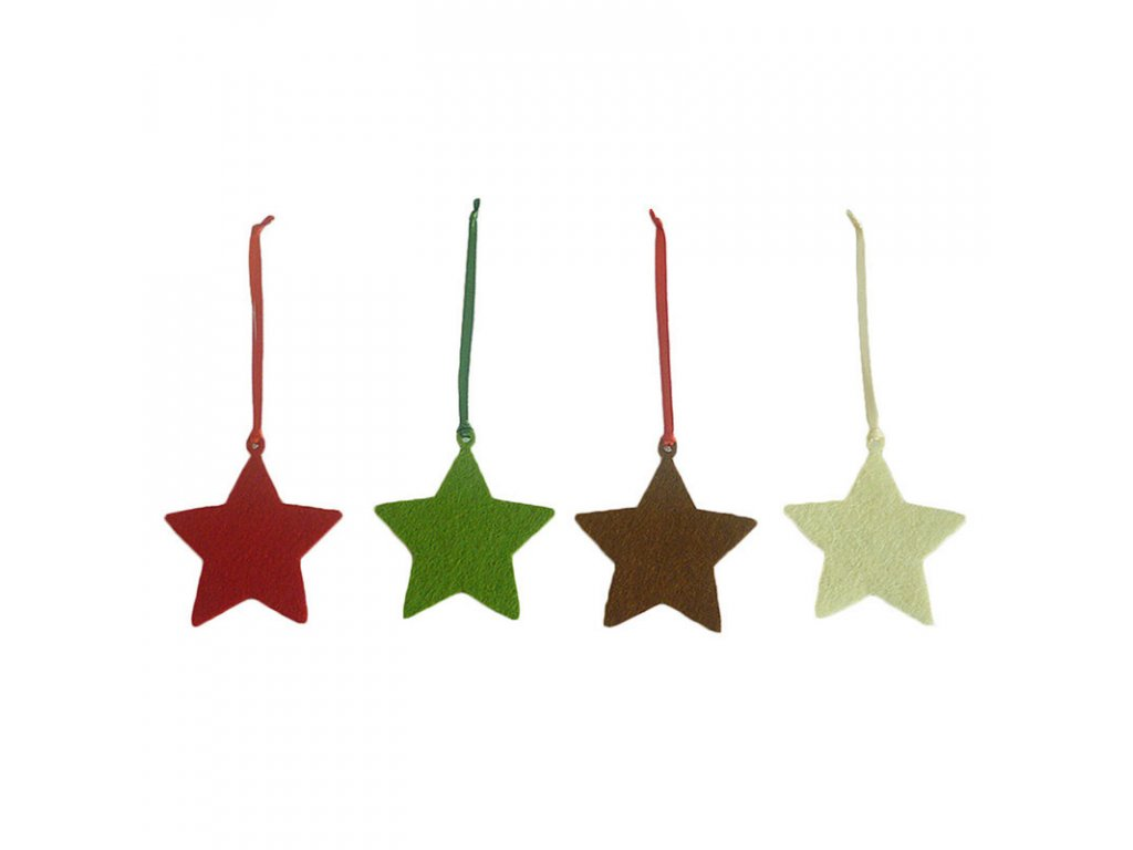 vanocni hvezdicka plst stromeckov