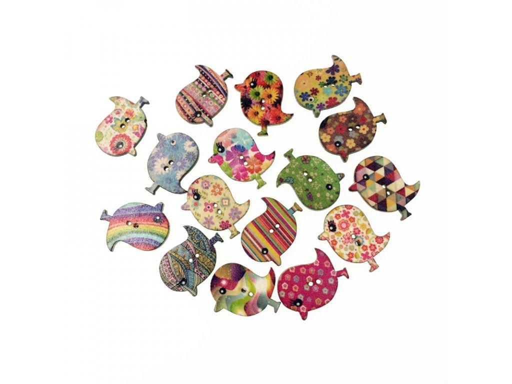 50Pcs Fashion Bulk Mixed Bird Owl Wooden Button Sewing Accessories Decorative Buttons Handmade Scrapbooking Craft DIY 6