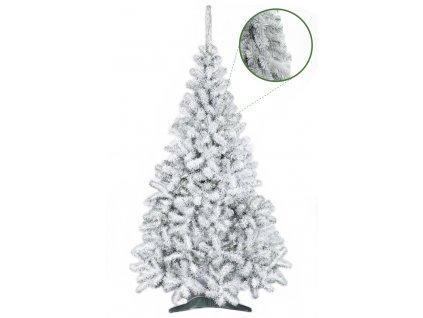 umely vanocni stromecek jedle NELA zasnezena s detailem stromeckov