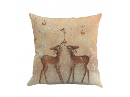 2 2019 Merry Christmas Printing Gift Printed Linen Pillowcase Dyeing Bed Home Soft Pillow Cover Survenir 45