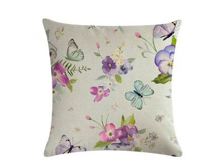 4 Retro Style Print Pillow Ddustproof Cover Home Textiles Single sided Color Printed Flower Series Linen Cushion