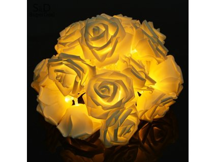 Elifine 20 LED Rose Festival Net String Light Fairy Lights Christmas Xmas Party Wedding Decoration Light 14
