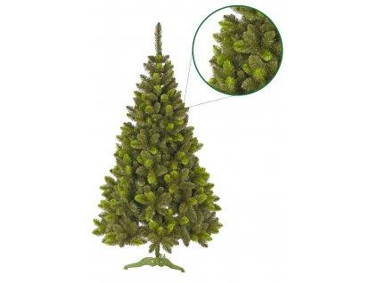 umely vanocni stromecek borovice PAULA se svetlymi konci s detailem stromeckov