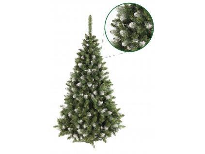 umely vanocni stromecek borovice PAULA s bilymi konci s detailem stromeckov