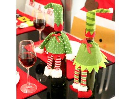 vanocni obal na vino