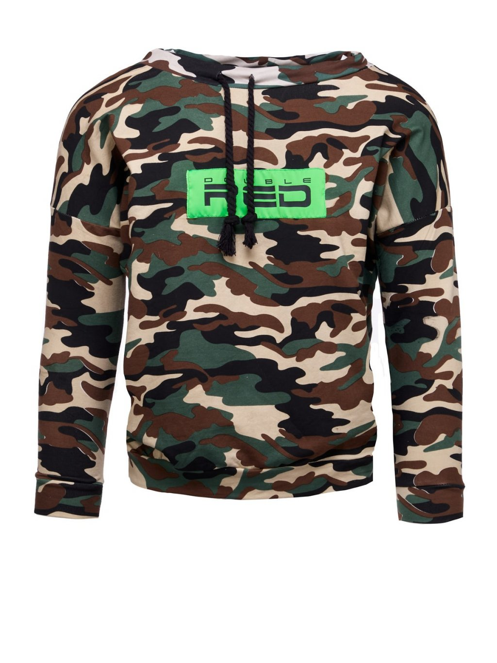 Dámská Mikina DOUBLE RED Sweatshirt Neon Streets Collection Camo Green