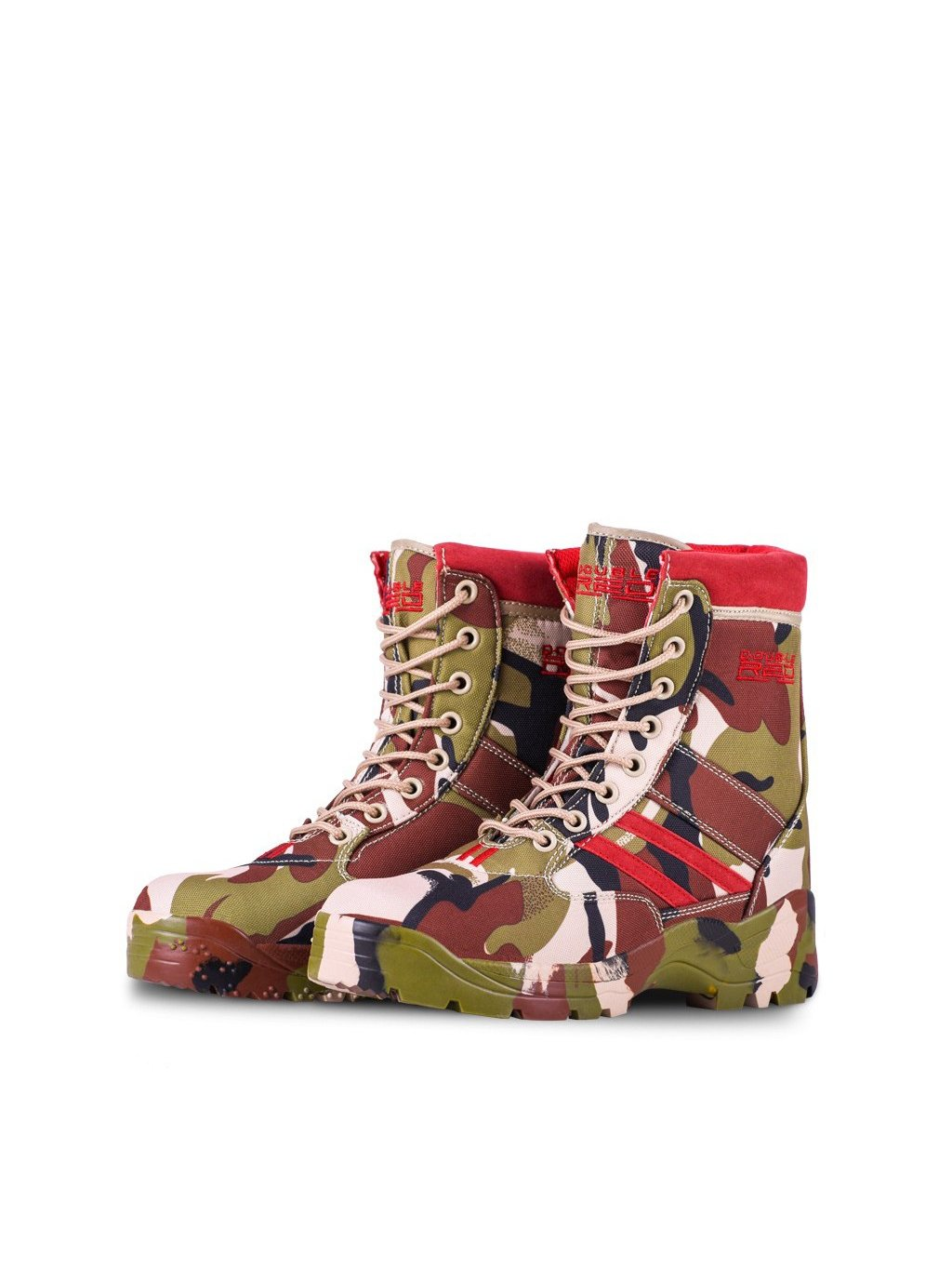 DOUBLE RED Boty Boots Soldier