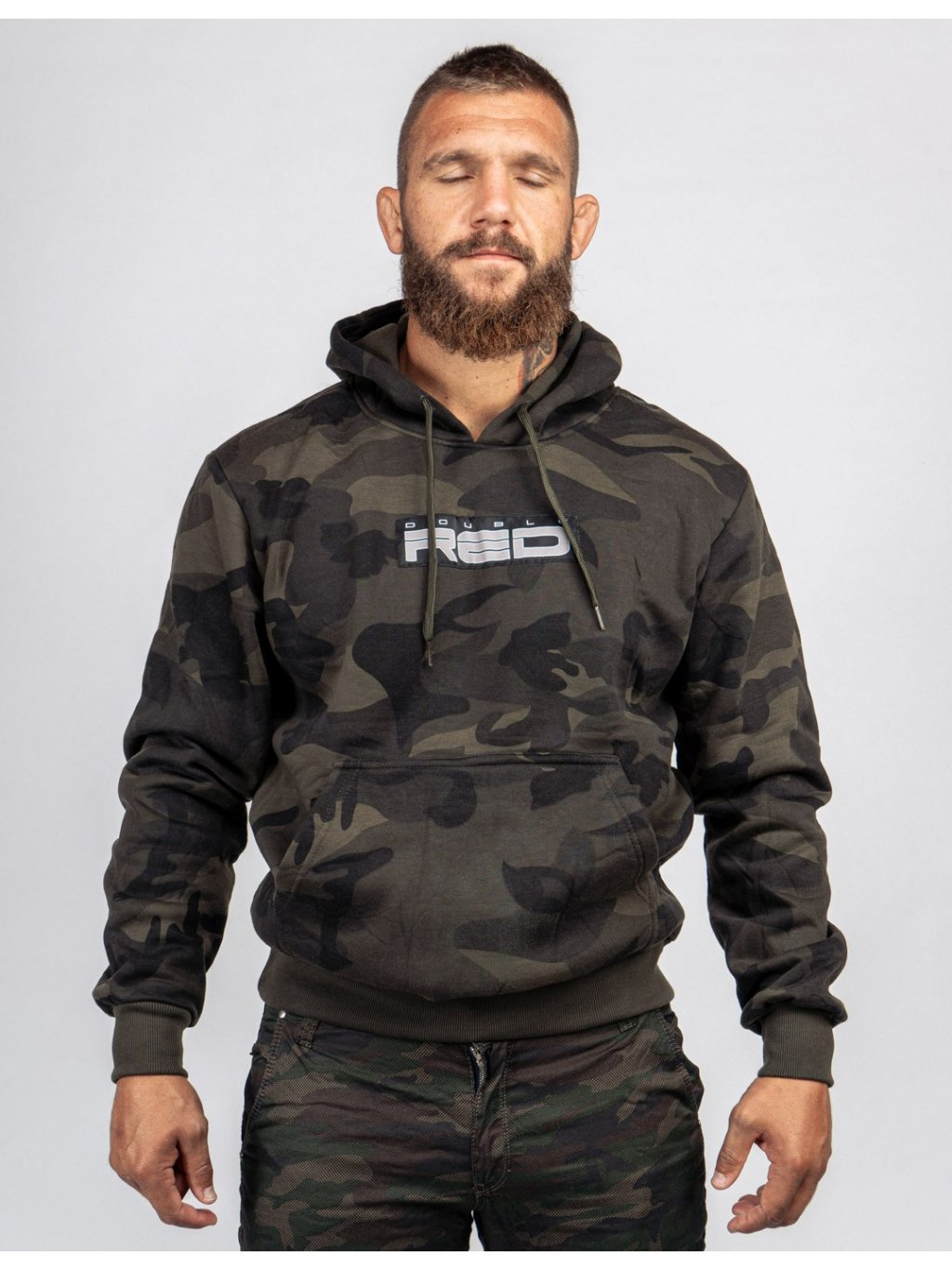 Pánská Mikina DOUBLE RED Hoodie Soldier Camo Shadows