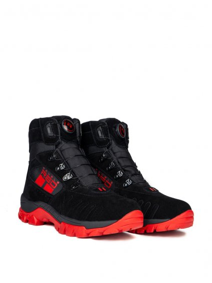 DOUBLE RED Boty X WIRE BLACK&RED Boots