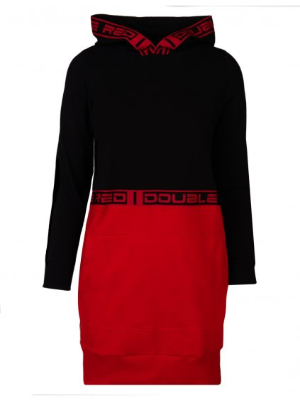 Šaty DOUBLE RED EMINENCE RED DRESS Black