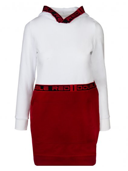 Šaty DOUBLE RED EMINENCE RED DRESS White