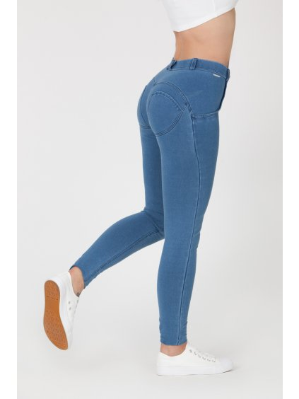 Dámské Kalhoty Boost Jeans Mid Waist Light Blue