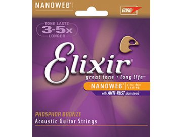 Elixir 16052 – Phosphor-Bronze NANOWEB – Light