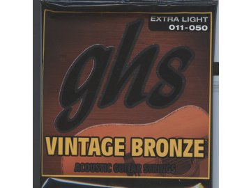 GHS Vintage Bronze Extra Light 011-050