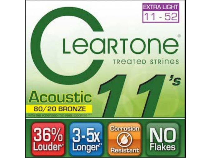 Cleartone 7611 (80/20 Bronze - Extra Light 11 - 52)