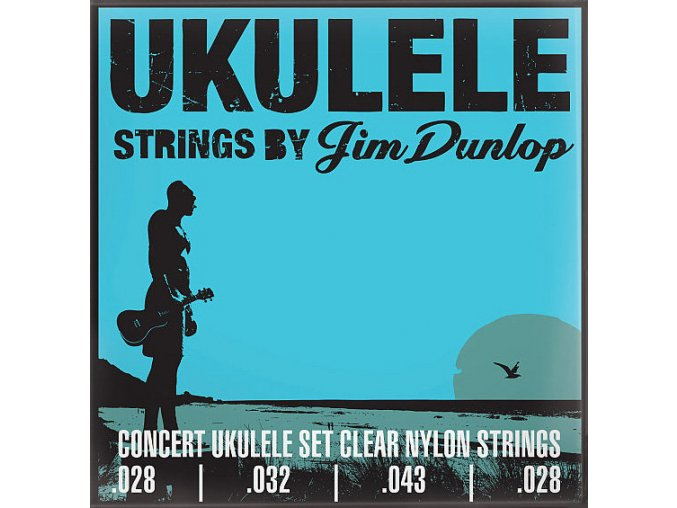 Dunlop DUY302 Concert Ukulele Set Clear Nylon Strings