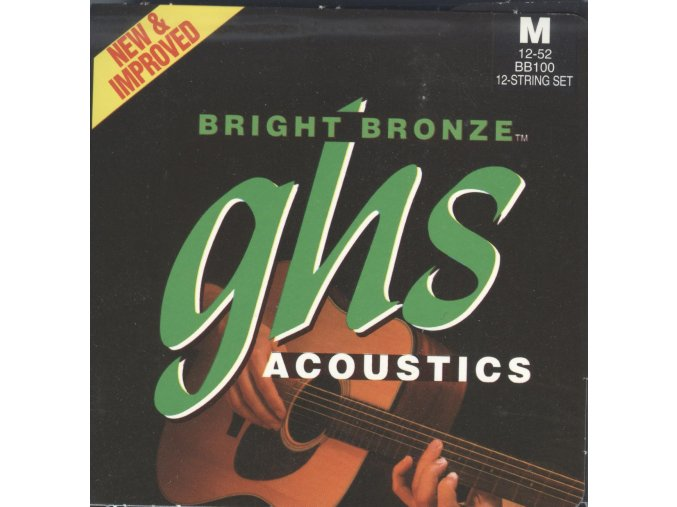 GHS Bright Bronze 80-20 Medium 012-052 12 string