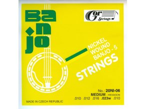 Gorstrings 20BNI-06 Medium-Hexagon (.010 - .023w) – sada strun na pětistrunné banjo