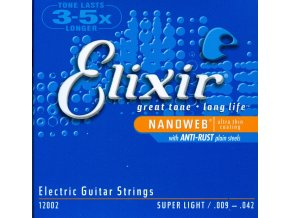 Elixir 12002 Nanoweb – Super Light (.009 - .042)