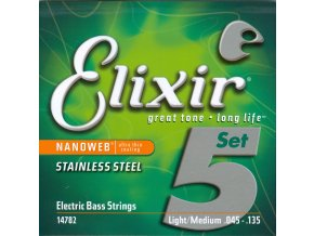 Elixir 14782 Nanoweb – 5-String Light/Medium, Long Scale