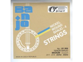 Gorstrings 81.NI4 – Medium - Hexagon (.011 - .032) – sada strun na tenorové banjo
