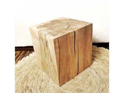 dekorační dřevěná kostka