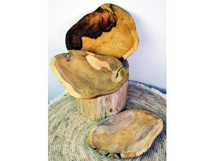 dřevěná miska mělká