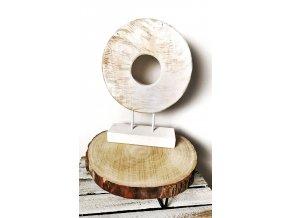 Dekorační dřevěné kolo bílé