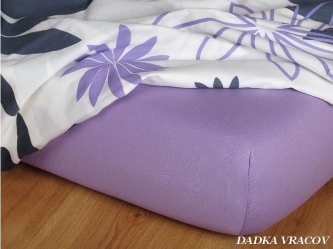 Jersey prostěradlo fialové
