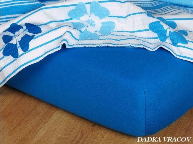 Jersey prostěradlo modř královská