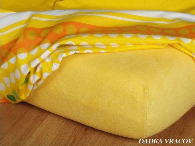 Froté prostěradlo tmavě žluté